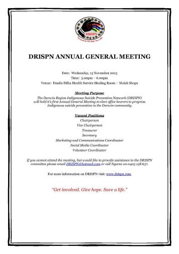 DRISPN AGM Flyer