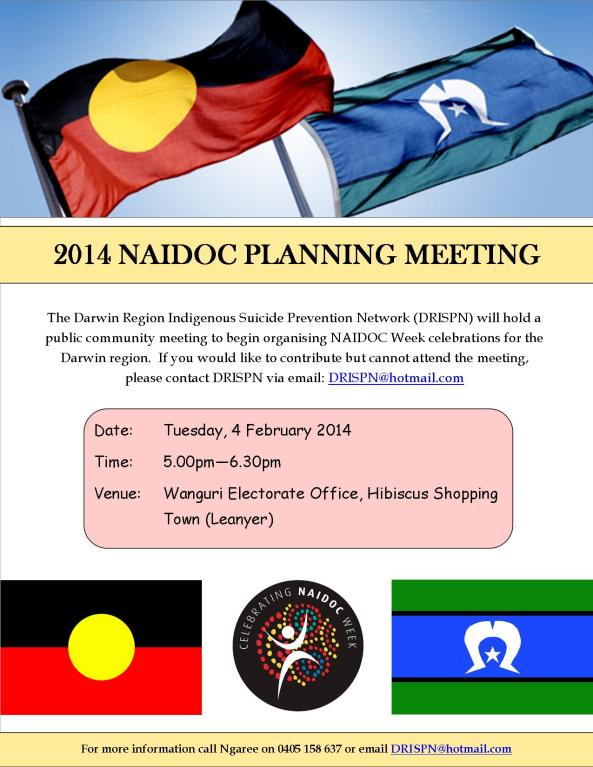 NAIDOC Planning Meeting Flyer